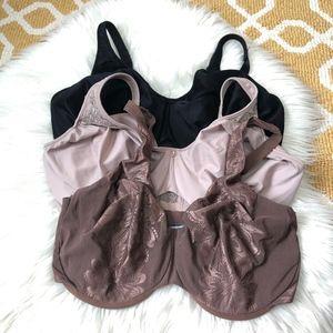 THREE Bali bras size 38DDD